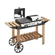 Barbecue Ghisa Gas Legno Inox