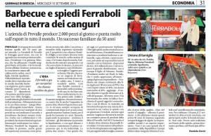 Ferraboli srl sul Giornale di Brescia